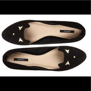 Forever 21 kitty cat black flats size 7